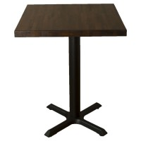 Refurbished Solid Wood Table - Dark Oak, with New Samson B1 Base