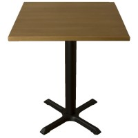 Ex Display Solid Wood Table - Light Oak, with New Samson B1 Base