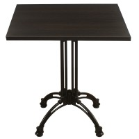 Wenge Complete Square Continental 2 Seater Table
