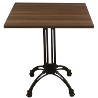 Walnut Complete Square Continental 2 Seater Table
