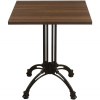 Walnut Complete Square Continental 60cm Table