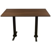 Walnut Complete Samson 4 Seater Table