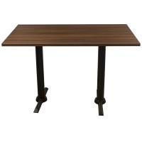 Walnut Complete Samson 4 Seater Table