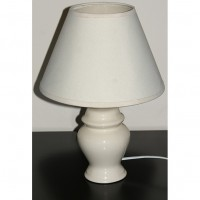 Small White Bedside Lamp including Shade