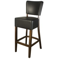 Belmont Black Faux Leather Bar Stool