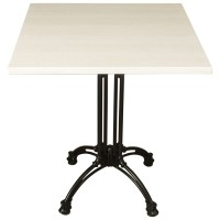 White Wash Complete Square Continental 2 Seater Table