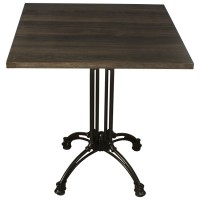 Dark Oak Complete Square Continental 2 Seater Table