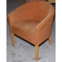 Upholstered Orange Tub Chairs