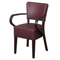 Belmont Wine Faux Leather Arm Chair