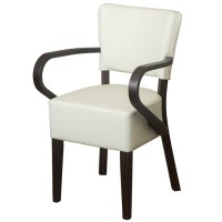 Belmont Cream Faux Leather Arm Chair