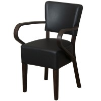 Belmont Black Faux Leather Arm Chair