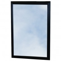 Large Black Framed Heated Mirrors