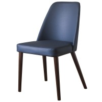Ritz Walnut / Grey Side Chair
