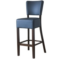 Belmont Grey Faux Leather Bar Stool