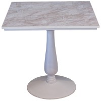 Used Square Marble Table