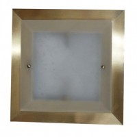 Square Smoked Brass Hallway Lights