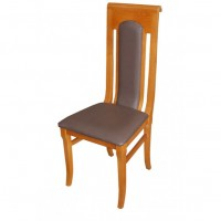 Brown Leather Highback Chair