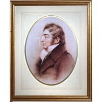 Gold Framed Sketch of a Man Picture