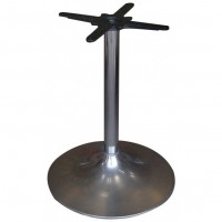 Round Chrome Trumpet Table Base