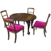 Luxury Oval Table & 4 Chairs Set