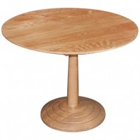 Round Lightwood Complete Table