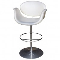 Modern Cream & Chrome Highstools