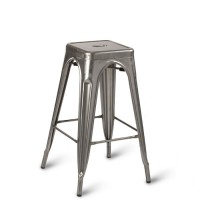 Eiffel High Stool - Gunmetal
