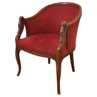 Traditional Solid Wood Armchair
