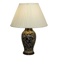 Ex Hotel Decortive Blue / Gold Bedside Lamp