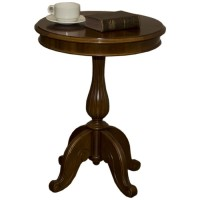 Ex Hotel Traditional Round Wooden Drinks Table