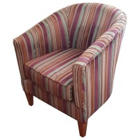 Ex Hotel Fabric Upholstered Tub Chairs