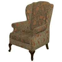 Ex Hotel Traditional Wing Back Arm Chair with Footstool