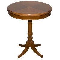 Used Traditional Style Round Wooden Table
