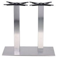 Danilo Brushed Stainless Steel Rectangle Dining Height Table Base Extra Large
