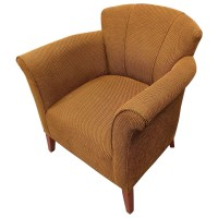 Modern large comfy tub fully upholstered tub chair