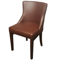 Gala Brown Faux Leather Side Chairs