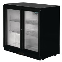 Polar Back Bar Cooler with Sliding Doors 208Ltr