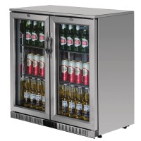 Polar Back Bar Cooler with Hinged Doors Stainless Steel 208Ltr