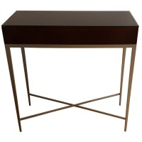 Ex Hotel Wooden Console Table with Glass Top
