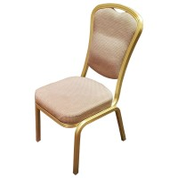 Used Banqueting Stacking Chairs Gold / Beige