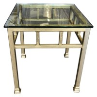 Gold Painted Square Coffee Table
