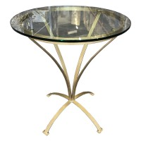 Gold Painted Round Occasional Table