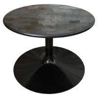 Round Granite Topped Coffee Table