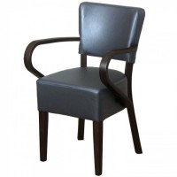 Belmont Grey Faux Leather Arm Chair