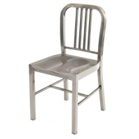 Navy Side Chair - Gunmetal