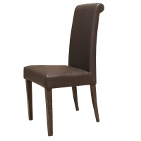 Used Brown Faux Leather Dining Chair