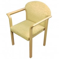 Upholstered Solid Wood Arm Chair