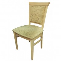 Upholstered Solid Wood Side Chair