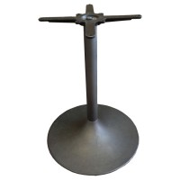 Used table base, black round trumpet style, dining height