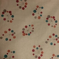 Used Curtain Pair Beige Curtain with Pattern